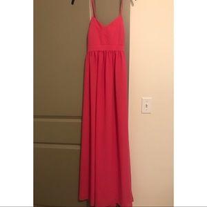 Pretty pink maxi dress